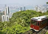 Take the tram up Victoria Peak