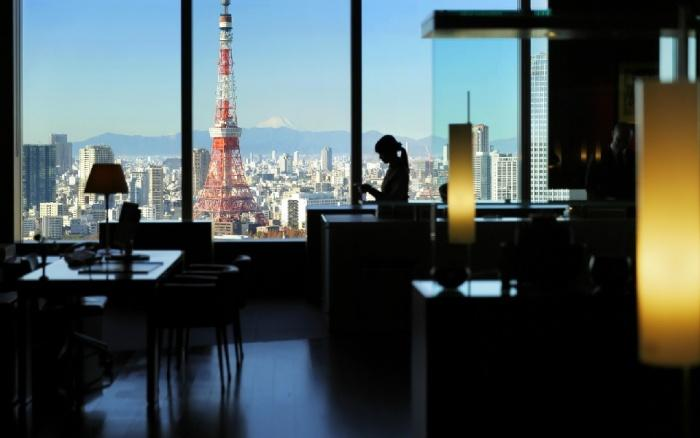 View of Mt Fuji from Reception, Park Hotel Tokyo