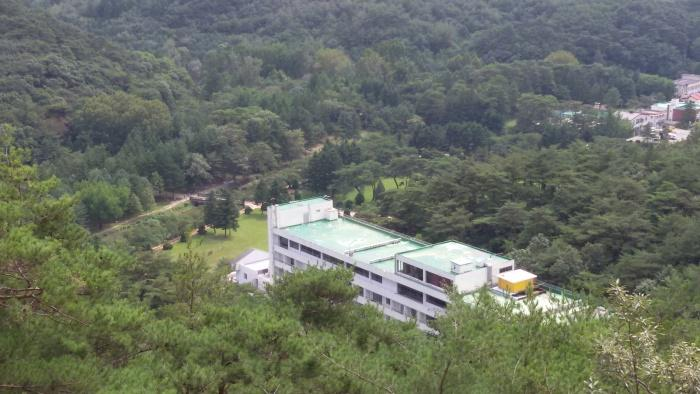 Aerial View, Lake Hills Hotel, Songnisan