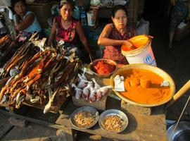 Turmeric and dried fish, Sittwe Market
