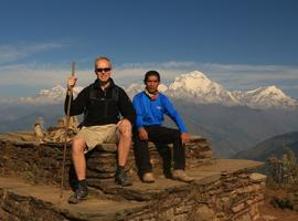 With my charming Sherpa on Poon Hill Trek