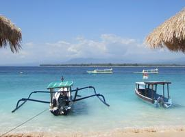 Crystal clear water on Gili Meno, Indonesia