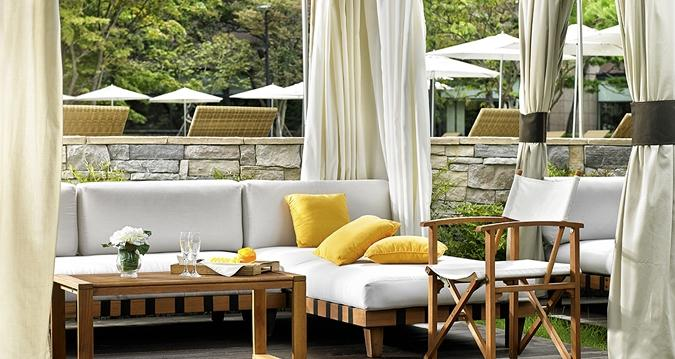 Poolside seating, Hilton Gyeongju