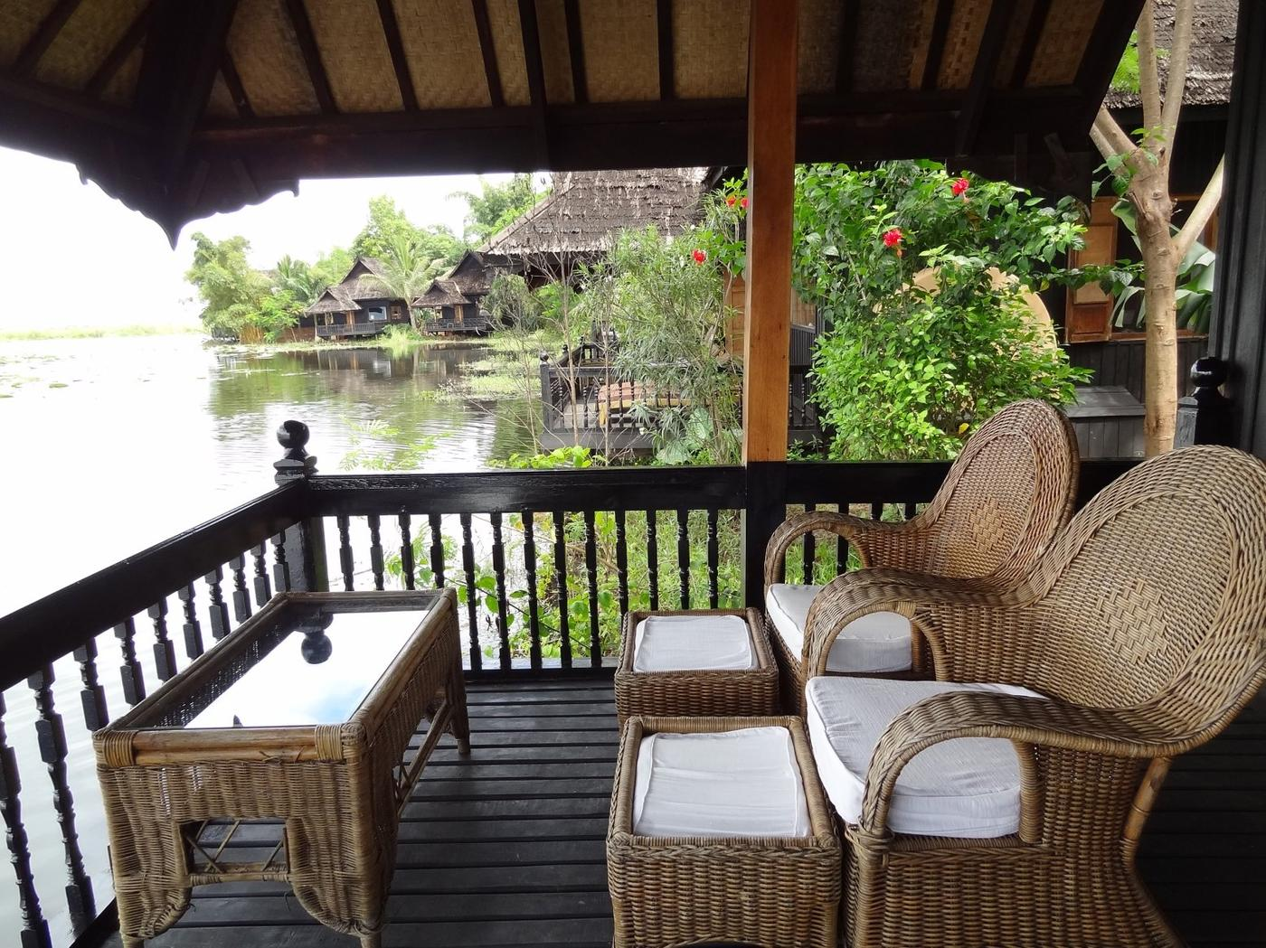 House balcony, Inle Princess Resort