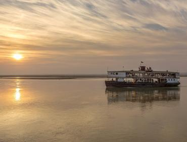 Old boat, Irrawaddy River