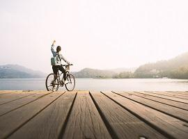 Cycling at Sun Moon Lake
