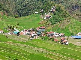 Village on rice terraces, Banuae, the Philippines