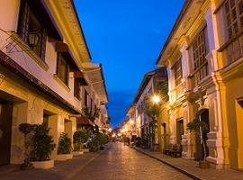 Dusk in Vigan, Luzon, the Philippines