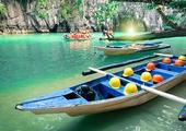 Paddle through the Underground River