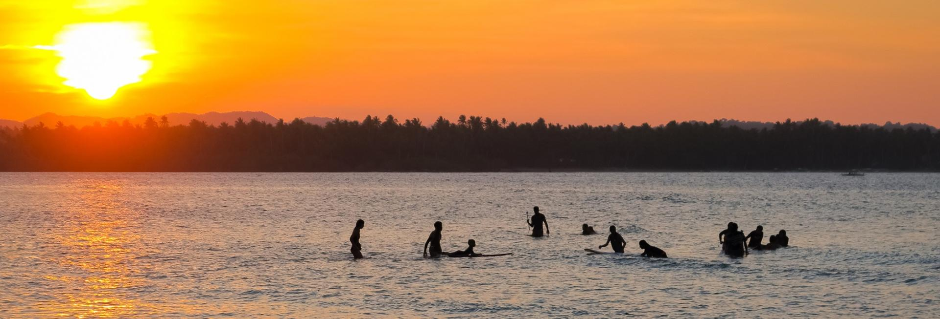 Surfing, Siargao, the Philippines