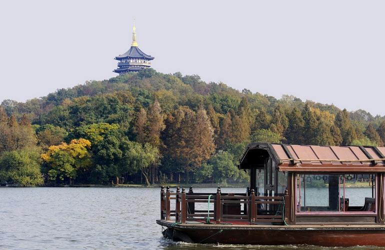 Boat on West Lake, Hangzhou