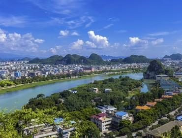 View from Diecai Hill, Guilin