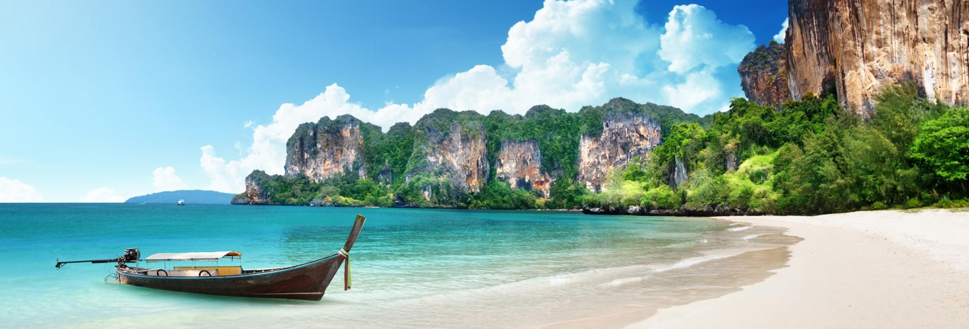 White sand beach, Thailand