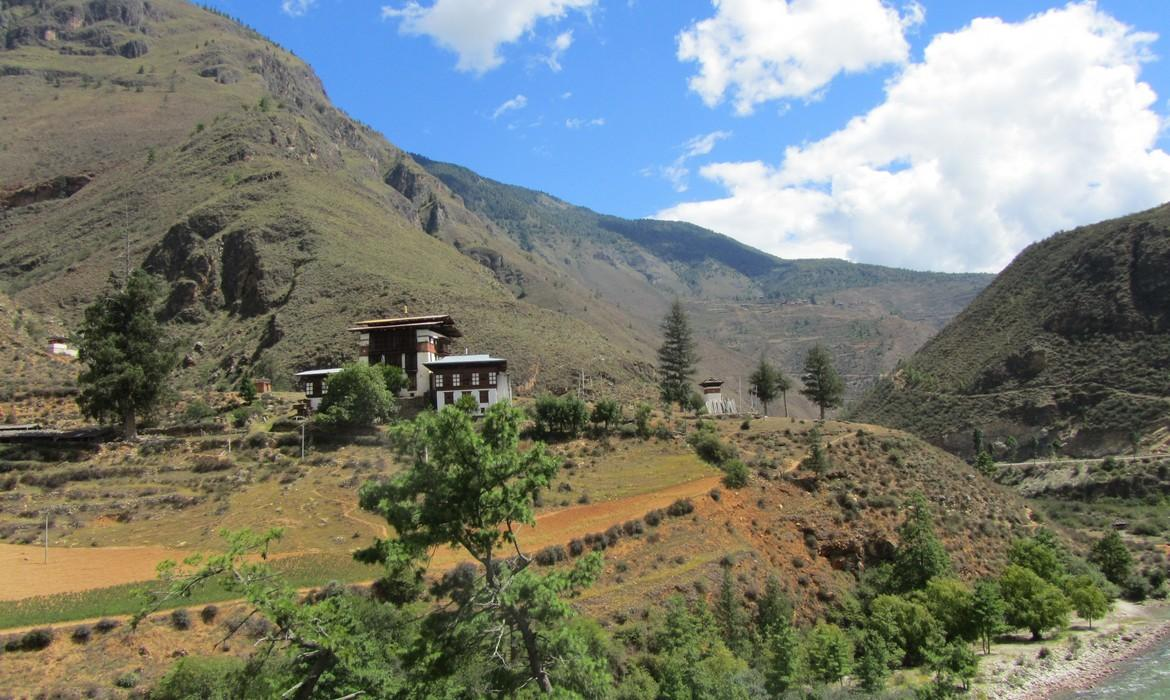 how to get to bhutan from uk