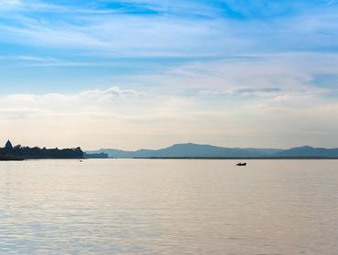 Evening light, Irrawaddy River
