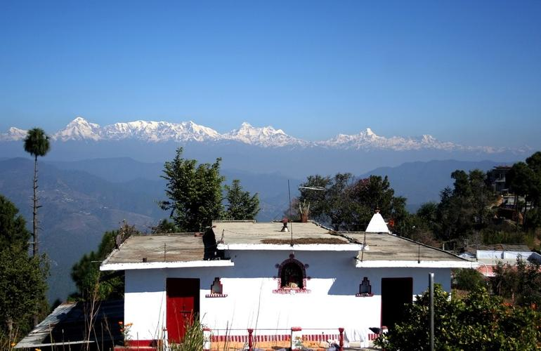 House overlooking valley, Almora