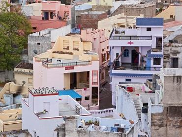 Colourful houses, Deogarh