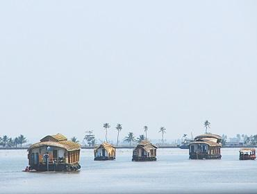 House boats, Vembanad Backwaters