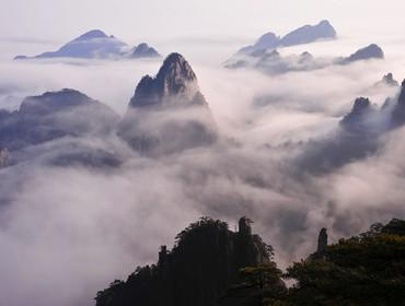 View from Huangshan summit