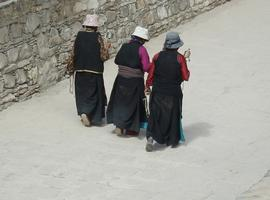 Pilgrims on a Kora in Tibet