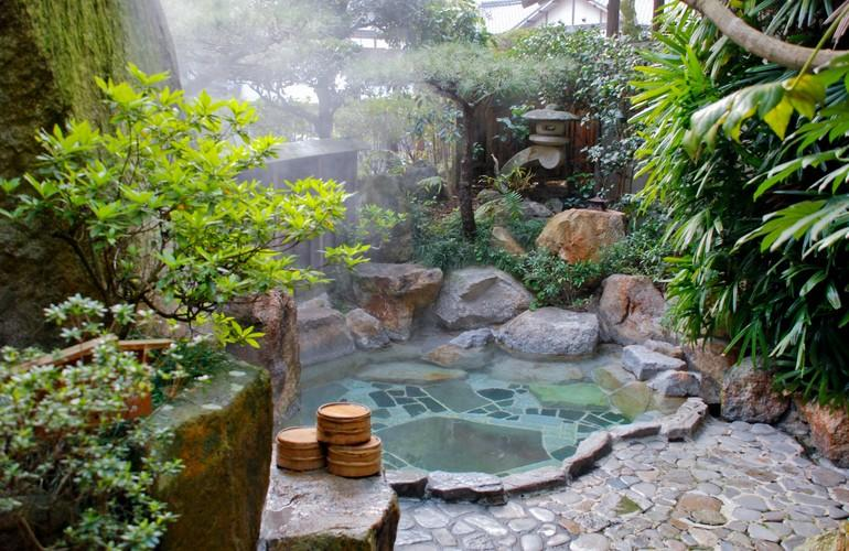 Open air bath, Adumaya Ryokan
