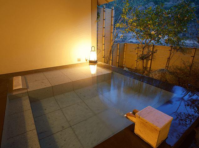 Private open air bath, Fujiya Ryokan