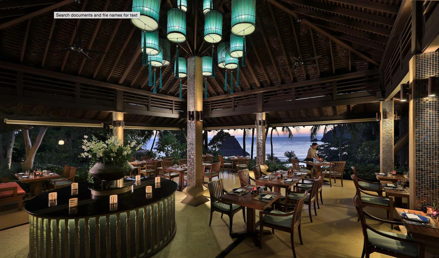 Restaurant, Pimalai Resort & Spa