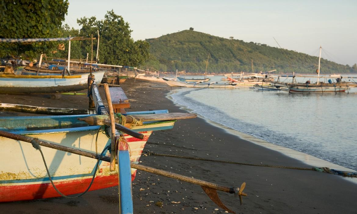 Balinese fishing boats, Pemuteran
