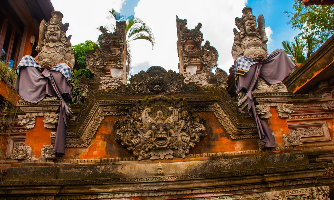 Balinese temple decoration, Ubud