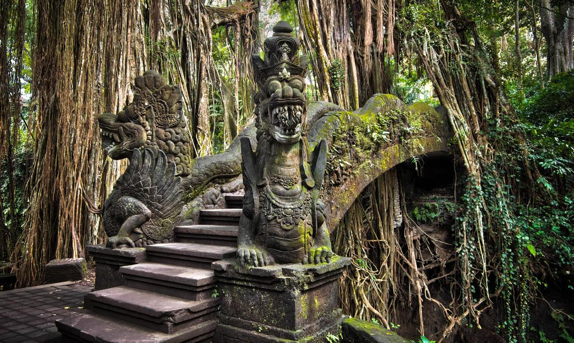 Dragon Bridge, Monkey Forest, Ubud