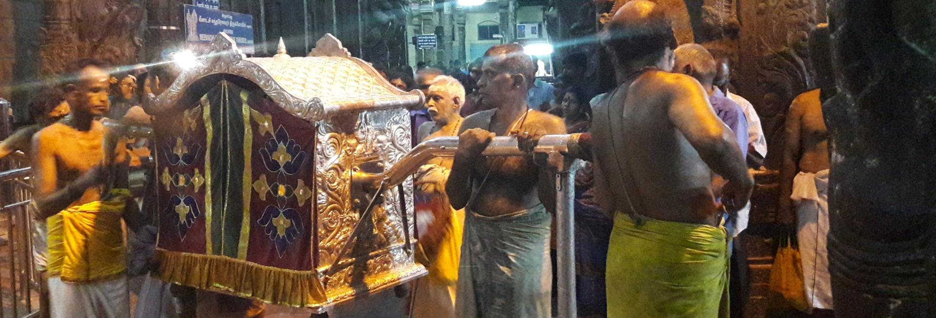 Putting to bed ceremony at Meenakshi, Madurai