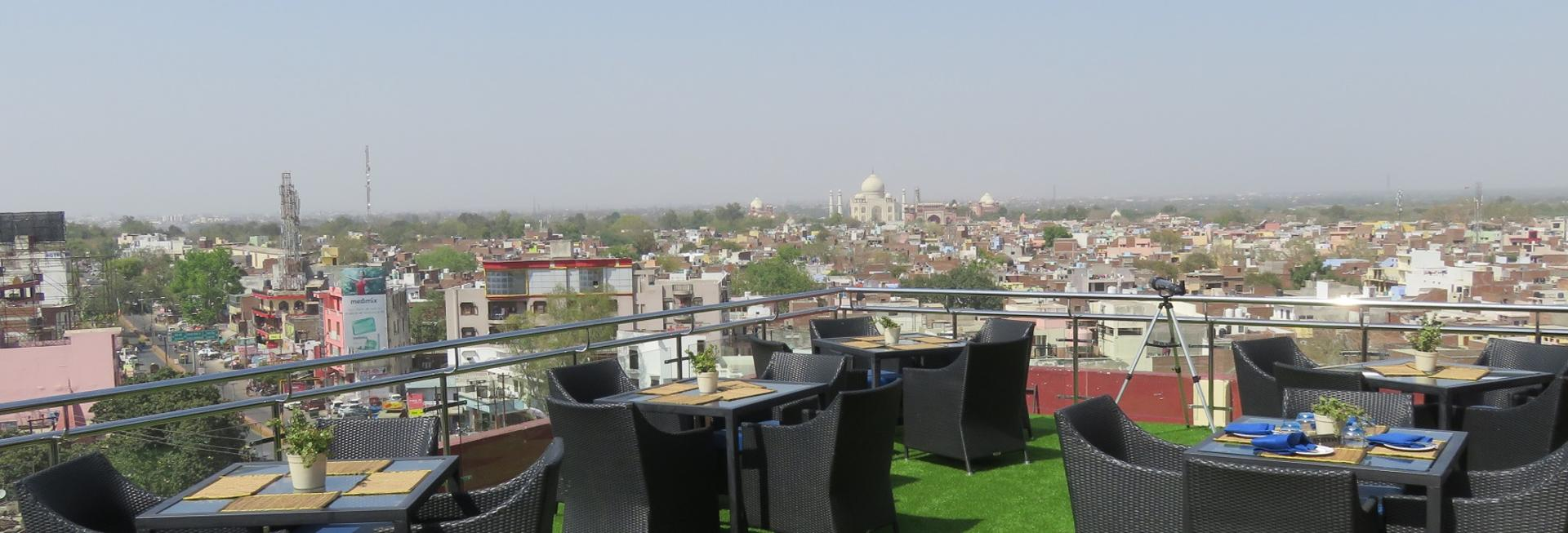 Rooftop Terrace, The Gateway Hotel, Agra