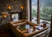 Relax in a hot stone bath