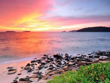 Sunset at the beach, Kota Kinabalu