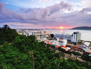 Cityscape at sunset, Kota Kinabalu