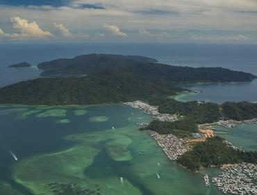 Aerial view of Gaya Island