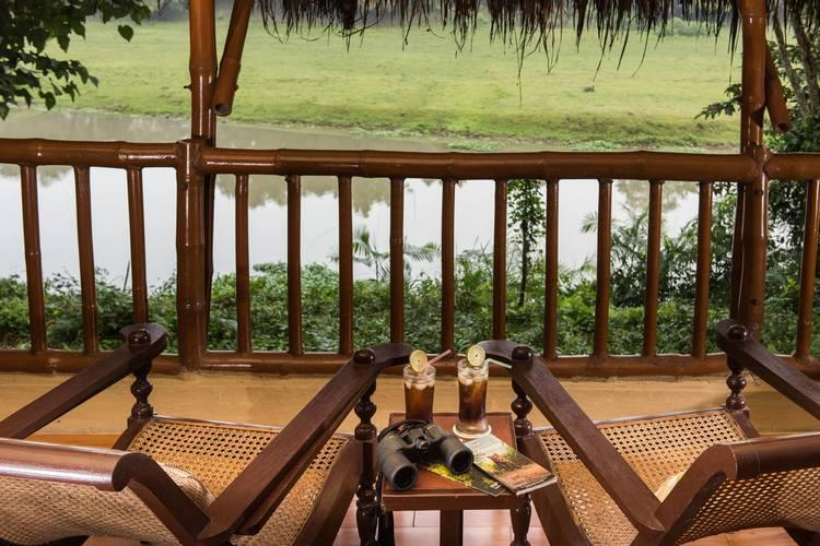 Balcony, Diphlu River Lodge