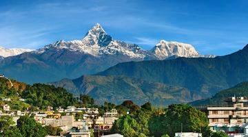View of Fishtail, Pokhara, Nepal