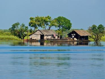 Floating house, Lake Tonle Sap