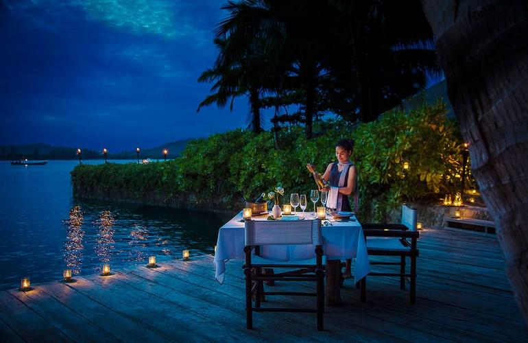 Dining deck, Song Saa Private Island