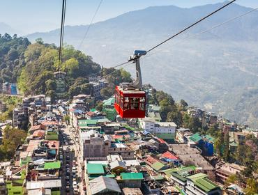 Cable car in Gangtok