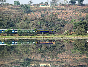 Train journey through West Bengal