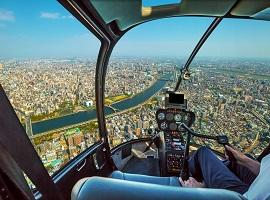 Helicopter tour, Tokyo