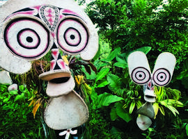 Fire dance masks, Rabaul