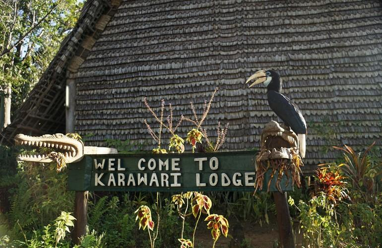 Entrance, Karawari Lodge