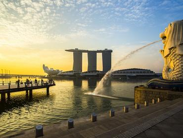 Merlion & Marina Bay Sands, Singapore
