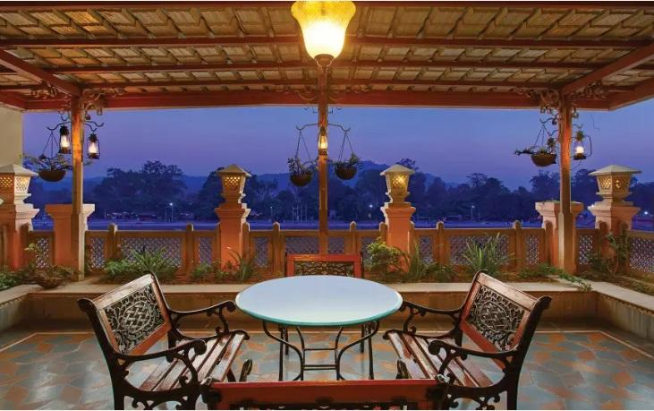 Rooftop Lounge Area, Haveli Hari Ganga