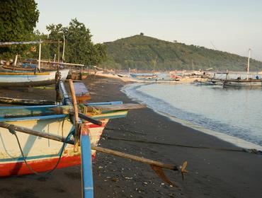 Traditional Balinese fishing boats, Pemuteran