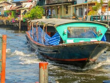 Ferry boat on the Klong, Bangkok