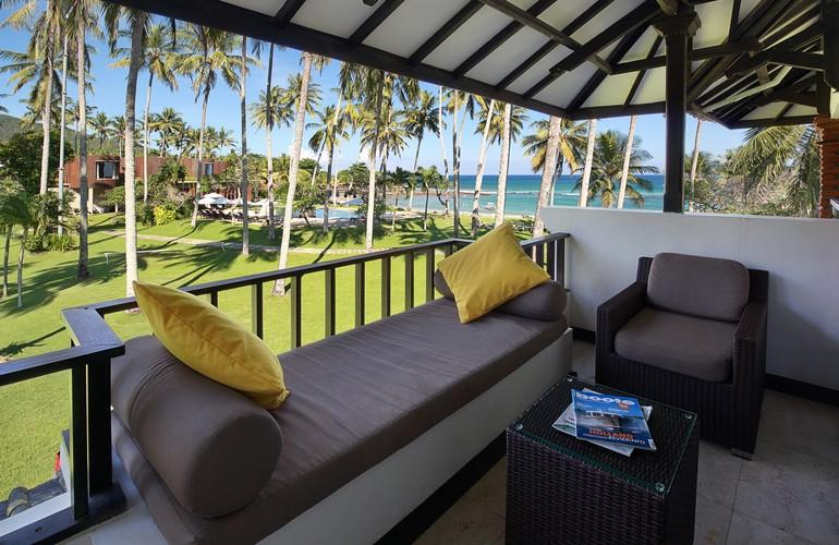 Balcony, Deluxe Ocean Room, Candi Beach Resort and Spa